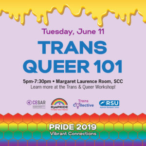 Trans Queer 101 @ Margaret Laurence Room, Ryerson Student Campus Centre