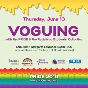 Voguing with RyePRIDE @ Margaret Lawrence Room, Ryerson Student Campus Centre